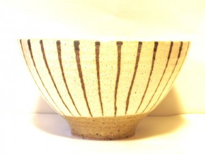 "Stripe Soup Bowl ""Kairagi"" in a Gift Box – MinoYaki –"