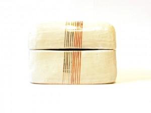 """Ceramic jewelry Box """"MizuHiki"""" in a Gift Box – MinoYaki –"""