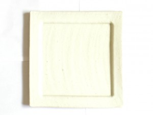 "Square Plate (White/ Large) x2 ""Rim Square"" in a Gift Box – MinoYaki –"