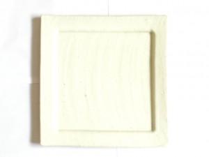 "Square Plate (White/ Large) x2 ""Rim Square"" in a Gift Box – MinoYaki –"