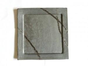 "Square Plate (Black/ Large) x2 ""Rim Square"" in a Gift Box – MinoYaki –"