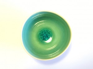"Handy Soup Bowl (Blue) x5 ""Minamo"" in a Gift Box – MinoYaki –"