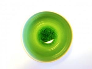 """Handy Soup Bowl (Green) x5 """"Minamo"""" in a Gift Box – MinoYaki –"""